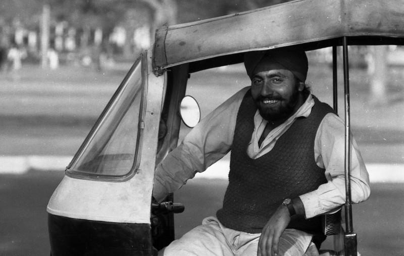 Motor Rickshaw driver, Connaught Place.