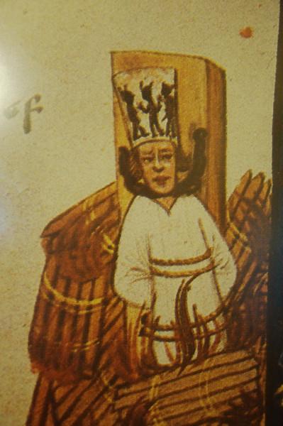 Prague - portrait of Huss in flames - museum, Bethlehem Chapel, Prague