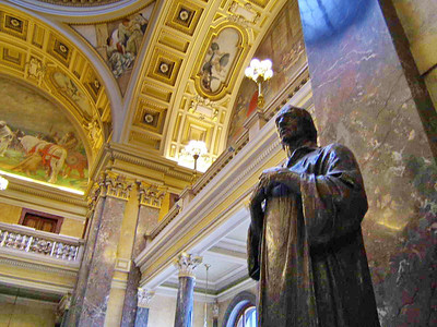 John Huss statue, Prague - Natural History Museum Prague