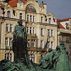 Prague - John Huss statue in city square