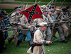 The Confederate general leads the a charge of his troops at a Civil War reenactment, July 17, 2010<br /> <br /> I would like to hear from some of the folks that particpate in these musters.<br /> You can email me Bob@Ramspics.net or leave a comment...