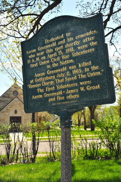 Anoka makes a strong claim for providing the first volunteers to the Union Army during the Civil War, noted by a small historical plaque standing at the corner of West Main Street and Park Street.