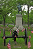 GAR monument and cannon located in Lakewood Cemetery, Minneapolis.  Photo taken on Memorial Day 2013
