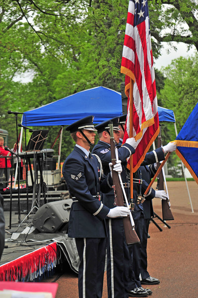 Color guard at the Lakewood Cemetery Memorial Day ceremony.