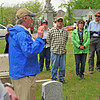 Historian Pat Hill leads a group on a Civil War grave tour in St. Paul's historic Oakland Cemetery - Memorial Day (2013)