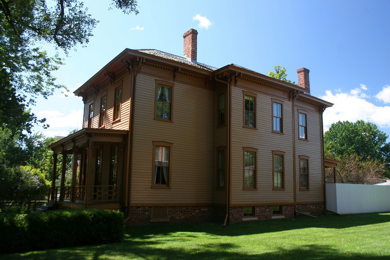 George Shutt House (ca. 1850's) - George Shutt was a young lawyer and rented this house in 1859.  I'm not sure how well he and Mr. Lincoln got along as Shutt supported Stephen Douglas in his campaign against Lincoln in 1860.