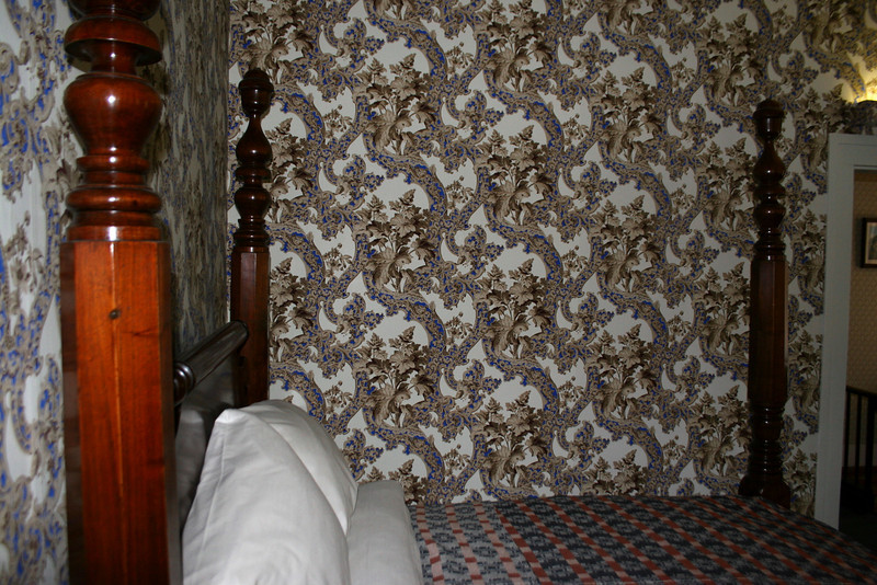 Lincoln's Bedroom - It was a bit crowded in Lincoln's room so this was the best shot I could get.  This is the only room in the house that the wallpaper design is known to be accurate to Lincoln's time here...