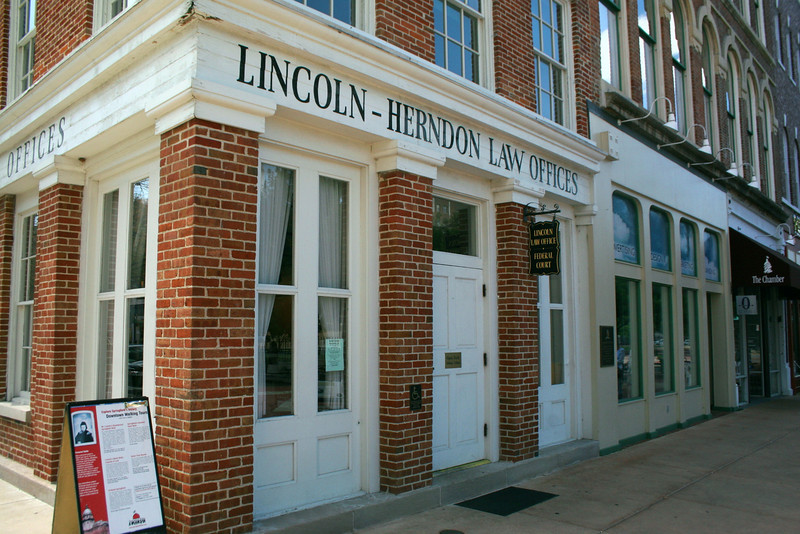 Lincoln-Herndon Law Offices (ca. 1840-41) - Lincoln practiced law out of this building from 1843-1852.  William H. Herndon ran the practice during Lincoln's term as congressman.  The ground floor is open to the general public and has many interesting displays.  To visit the second and third floors, however, you must follow the guided tour for a small fee.