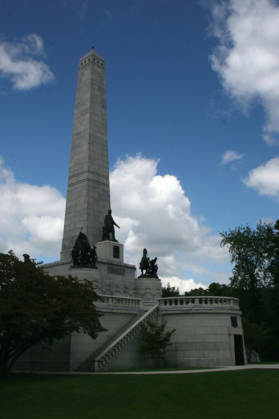 Lincoln's Tomb (ca. 1874) - On the day President Lincoln died certain Springfield residents banded together to form the National Lincoln Monument Association.  Monies were gathered to provide a fitting resting place for the man who had given so much in service to his country.  Lincoln, his wife Mary, and three of his four sons (Edward, Willie, & Tad) are interred here.