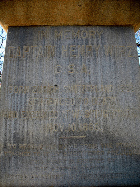 Wirtz Monument Inscription