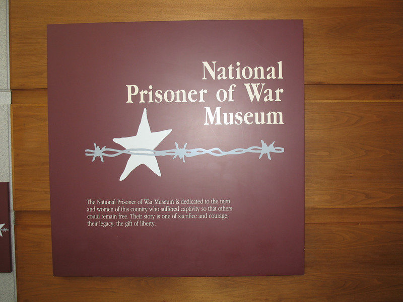 Plaque inside the Prisoner of War Museum...