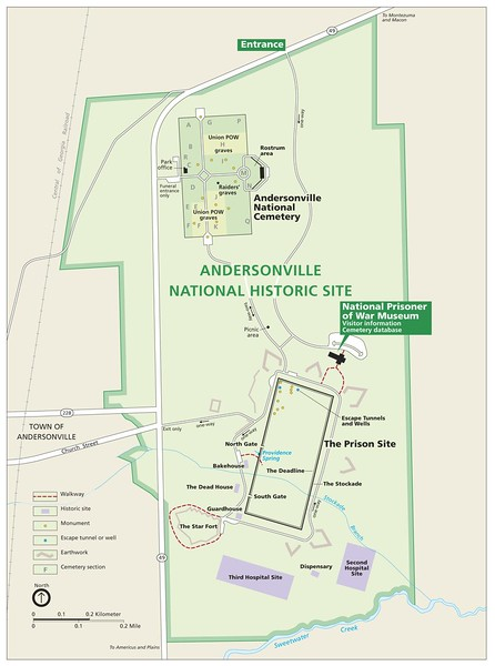 Andersonville National Historic Site Map