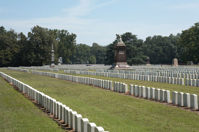 The National Cemetery at Andersonville Prisoner of War camp. Nearly 13,000 Federal soldiers died in captivity.