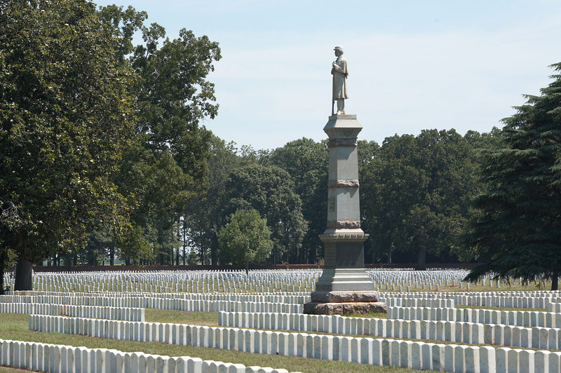The National Cemetery at Andersonville Prisoner of War camp, known officially as Camp Sumter. Nearly 13,000 Federal soldiers died in captivity.