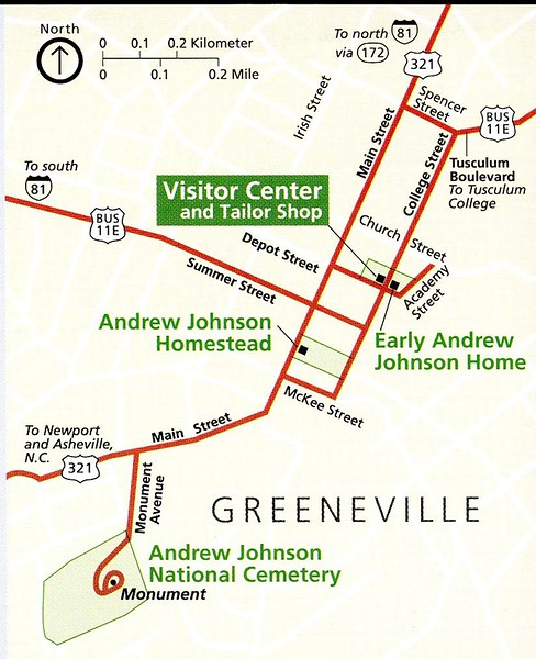 Andrew Johnson National Historic Site Map