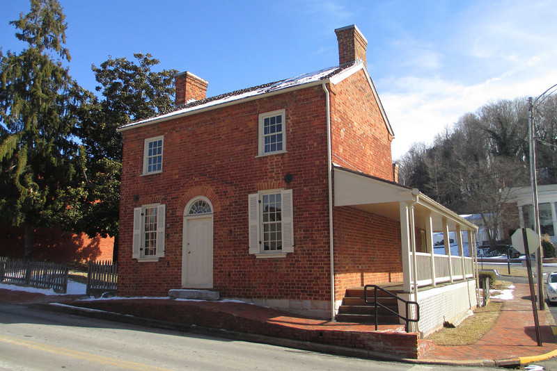 <b>Early Home</b> - Looking at the Early Home from the corner of Depot and College Streets in Greeneville.  This is the house that Johnson lived in from the 1830's to 1851, during the period when he was moving his up through the political ranks...