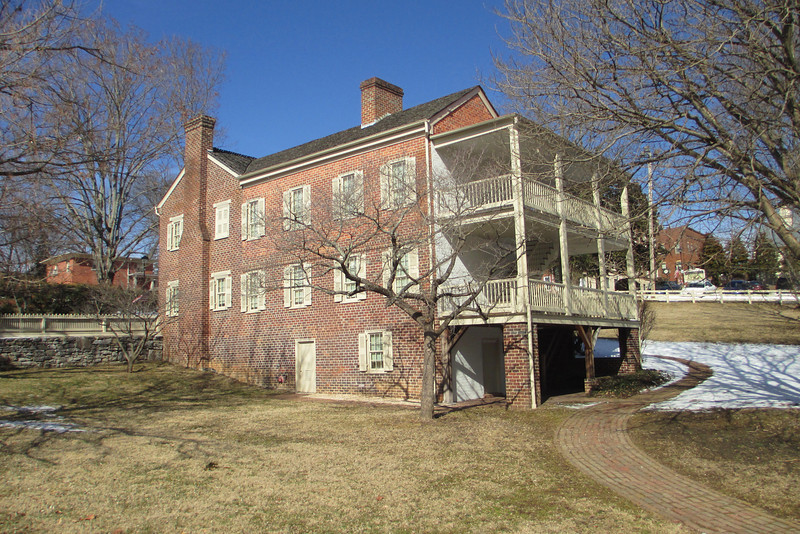 <b>The Homestead</b> - Andrew Johnson purchased this property on the corner of Main and Summer Streets in 1851 and resided here off-and-on until 1874.  During the Civil War he was forced to flee his home due to his Unionist sympathies and was not able to return until his Presidency after the war.  Occupation by the Union Army had damaged the home but Johnson quickly restored it and it served three successive generations of the Johnson family before it was handed over to the Park Service...