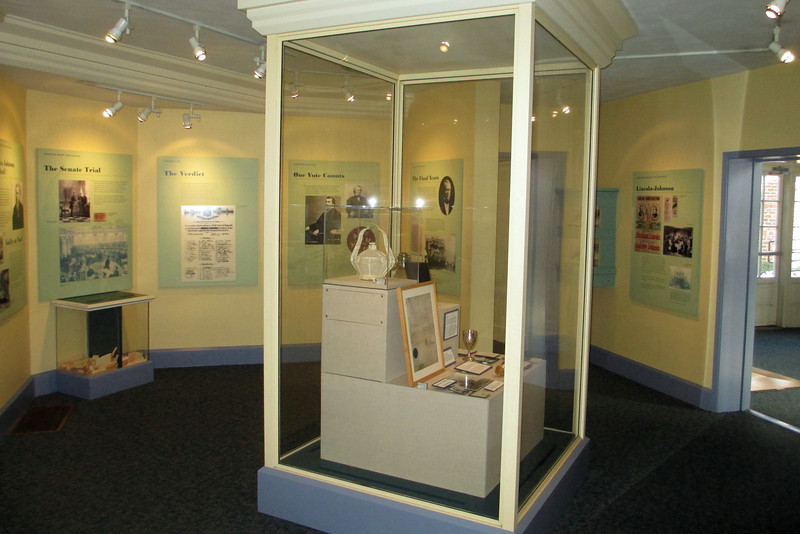 <b>Visitor Center</b> - A portion of the museum inside the visitor center.  The exhibits primarily focus on Johnson's time as President and his impeachment.  The ballot box in the far left allows you, after reading the facts of his trial, to vote for or against Johnson's impeachment using replica ballots...