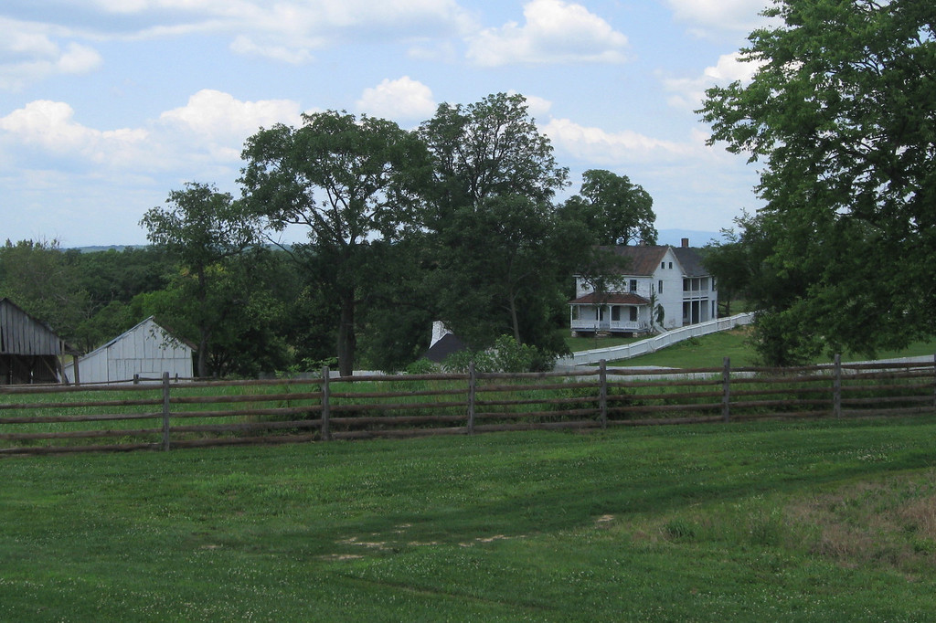 Poffenberger Farm - Union General Joe Hooker occupied this farmhouse the evening prior to the battle.  Skirmishers placed by Hooker in the nearby North Woods were the first engaged in the battle...