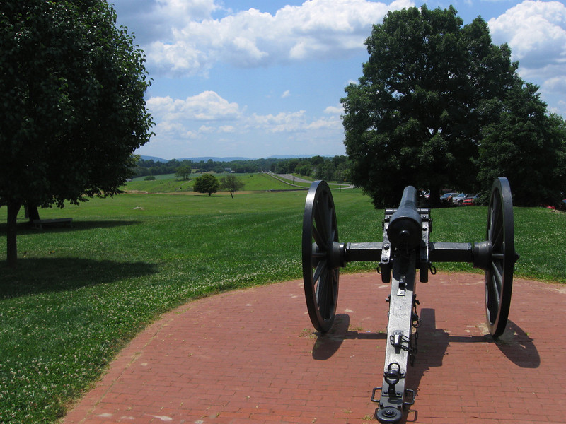 One of the cannon near the visitor's center, overlooking State Route 65 (Sharpsburg Pike)...