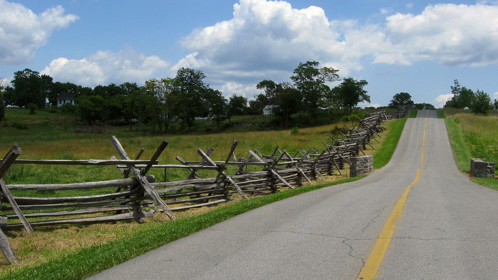 Battle of Antietam (Sharpsburg) - Wooden fences along the Sharpsburg Pike...