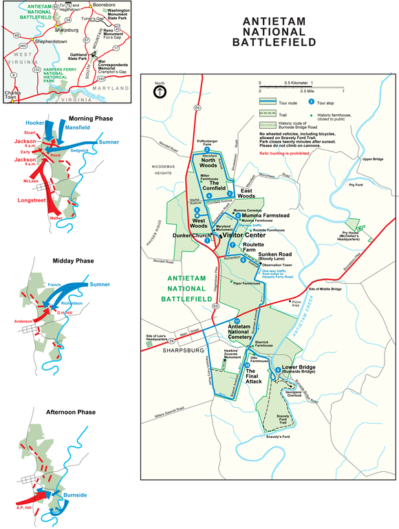 Antietam National Battlefield Map