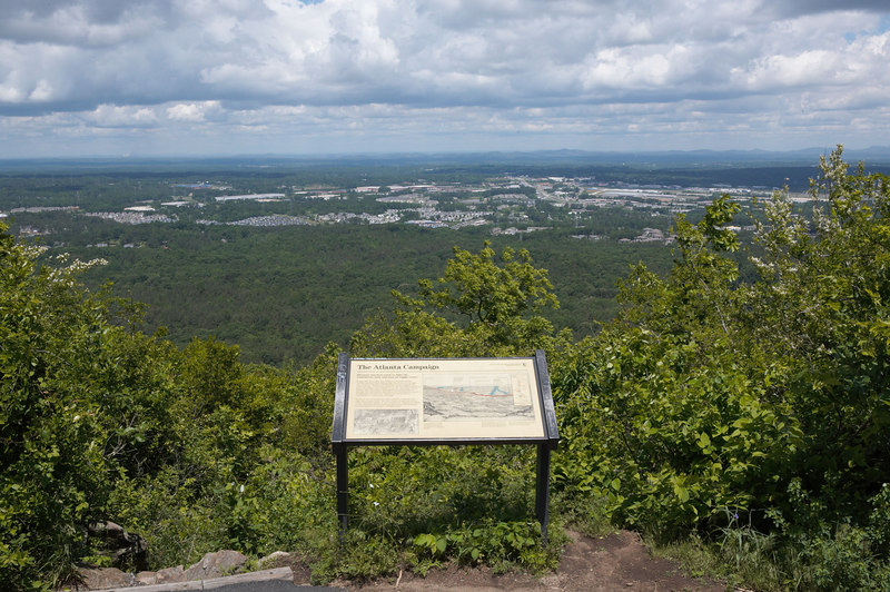 Confederate view from atop Kennesaw Mountain battlefield, Atlanta Campaign, June 1864.