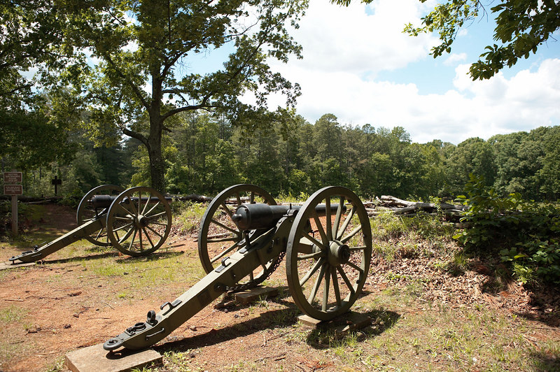 Federal Cannon at Kennesaw Mountain, Georgia, Atlanta Campaign, June 1864.