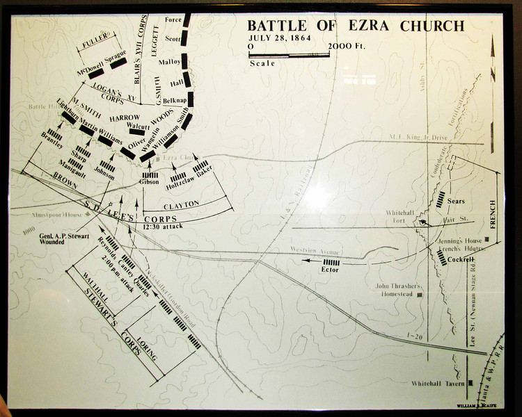 Battlemap of the Battle of Ezra Church.