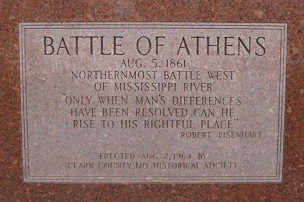 Plaque at the entrance to the battlefield...