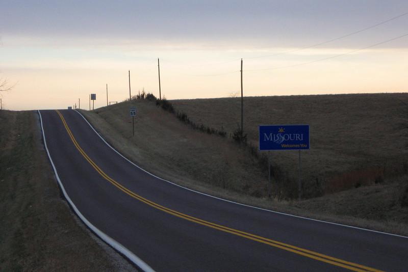 Missouri/Iowa State Line