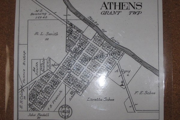 Athens as it was plotted out in the 1860's...Only the areas around and above the area labeled 'Original Town' were built upon...the rest was cleared and sectioned off for future expansion...
