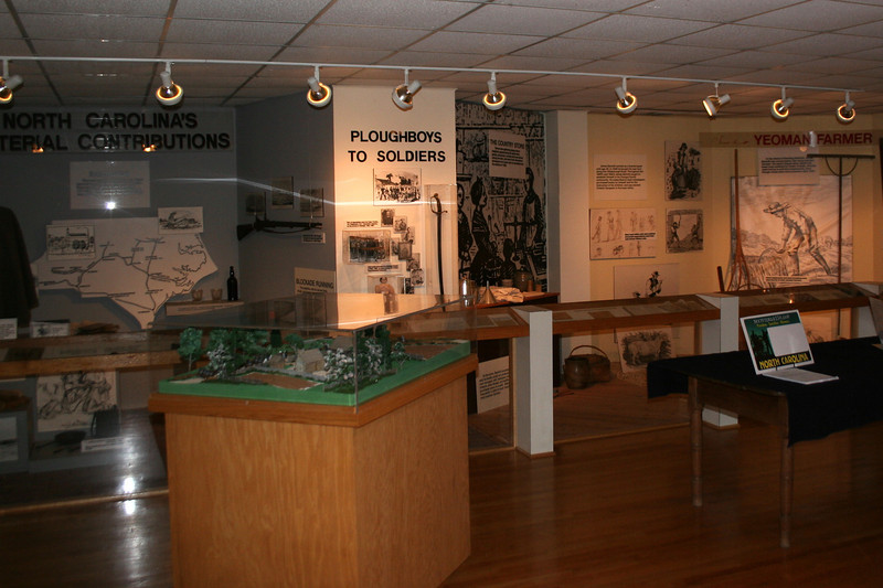 The displays inside the visitor center does a good job of explaining how the Civil War affected the Piedmont of North Carolina, particularly the farming families which included the Bennett's...