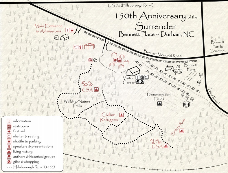 Bennett Place Site Map