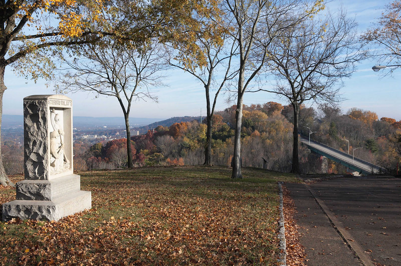 The Confederate position on Missionary Ridge, Chattanooga, Tennessee was assaulted and overrun by 4 divisions of the Army of the Cumberland. Chickamauga and Chattanooga National Military Park