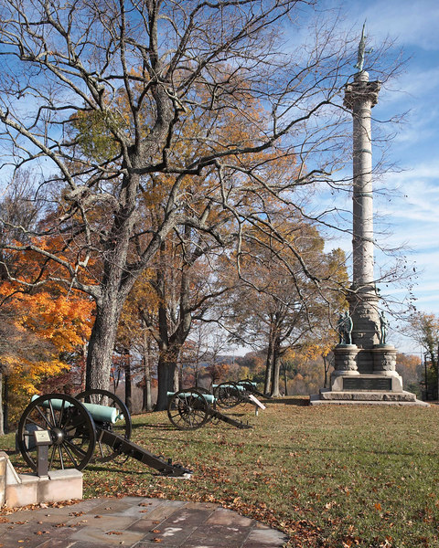 Illinois Memorial: The Confederate position on Missionary Ridge, Chattanooga, Tennessee was assaulted and overrun by 4 divisions of the Army of the Cumberland. Chickamauga and Chattanooga National Military Park