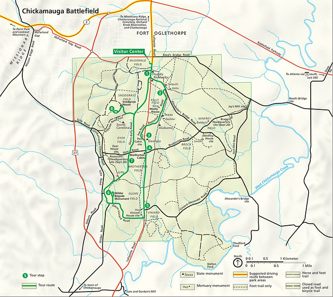 Chickamauga National Military Park Site Map