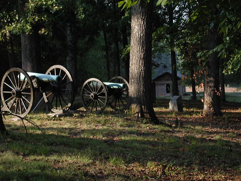 Federal cannon on Snodgrass Hill, Chickamauga and Chattanooga National Military Park, Chickamuaga, GA.