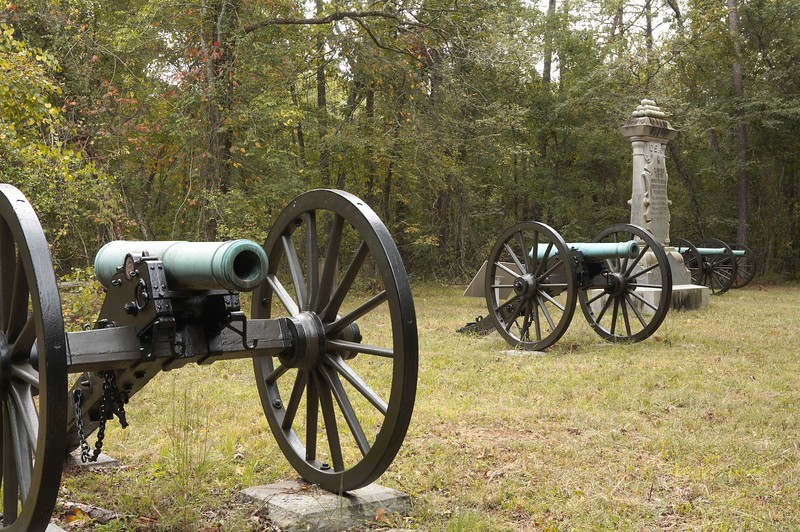 Carnes's Tennessee Battery, Wright's Brigade, Cheatham's Division, Polk's Corps, Army of Tennessee at Chickamauga, Georgia; Loss during battle: 4 Guns, 38 Men and 45 Horses. Chickamauga and Chattanooga National Military Park