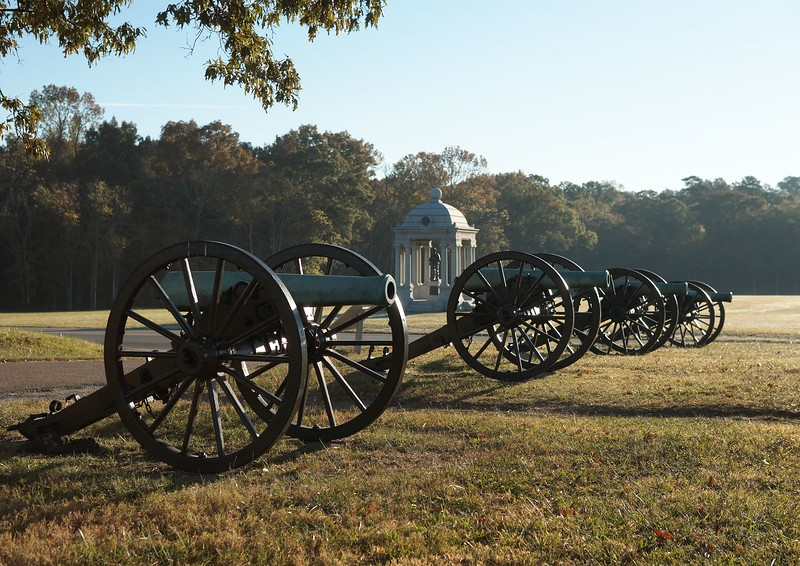 Confederate cannon of Slocumb's Georgia Battery on McDonald's Field, Chickamauga, Georgia.