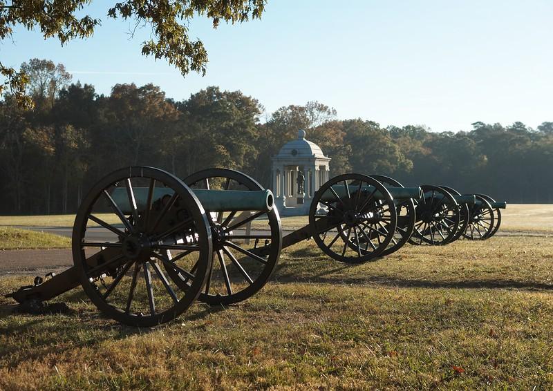 Confederate cannon of Slocumb's Georgia Battery on McDonald's Field, Chickamauga, Georgia.