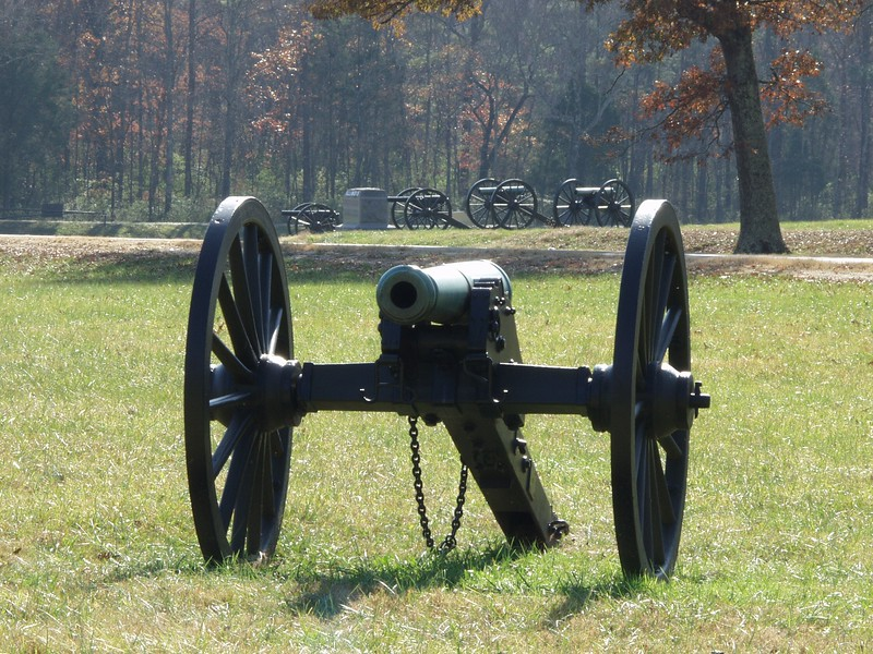 Federal battle line at Viniard's Field, Chickamauga, GA