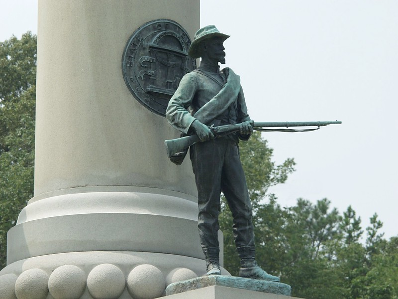 The Georgia monument to its Confederate soldiers - Chickamauga and Chattanooga National Military Park