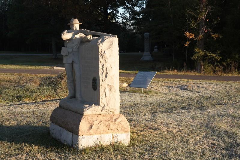 13th Michigan on the Federal battleline at Viniard's Field, Chickamauga, Georgia.