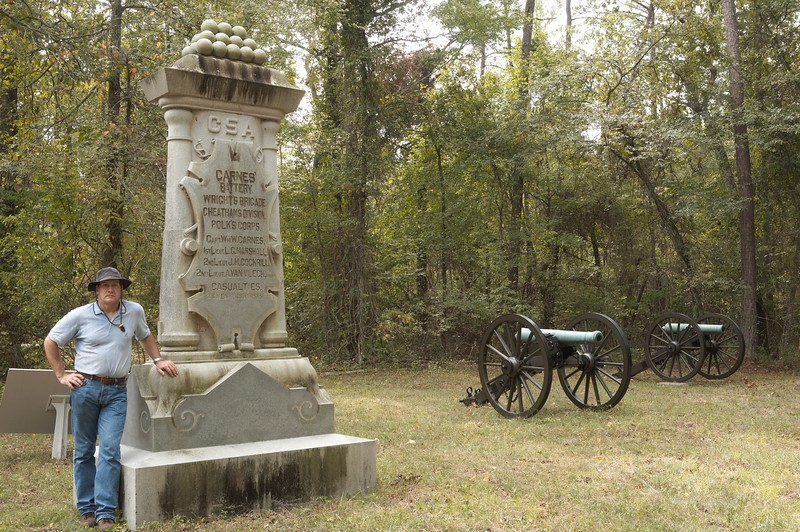 Carnes's Tennessee Battery, Wright's Brigade, Cheatham's Division, Polk's Corps, Army of Tennessee at Chickamauga, Georgia; Loss during battle: 4 Guns, 38 Men and 45 Horses.