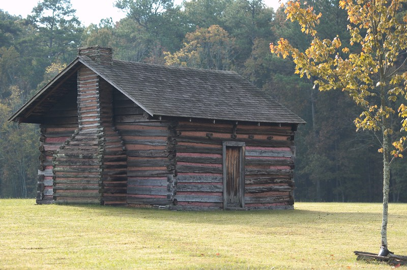 The Kelly family cabin on Kelly's Field, Chickamauga and Chattanooga National Military Park