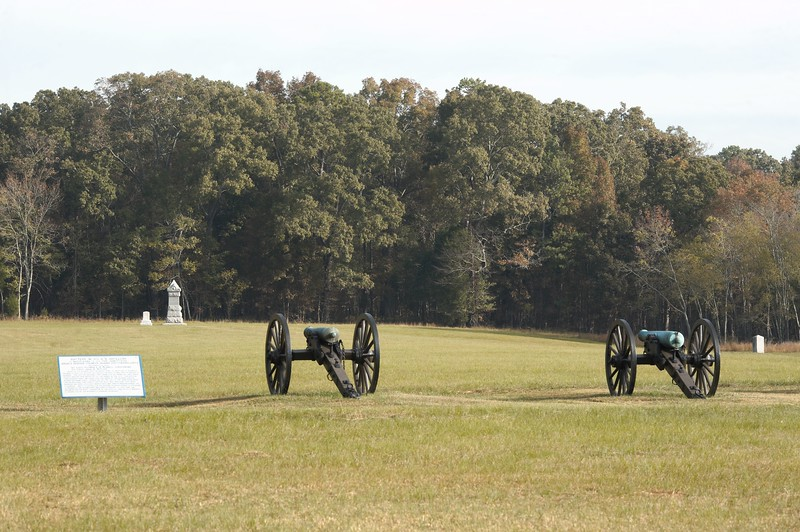 Battery M, 4th US Artillery at Chickamauga, Georgia.