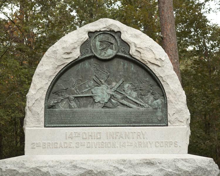 14th Ohio Infantry at Chickamauga, Georgia