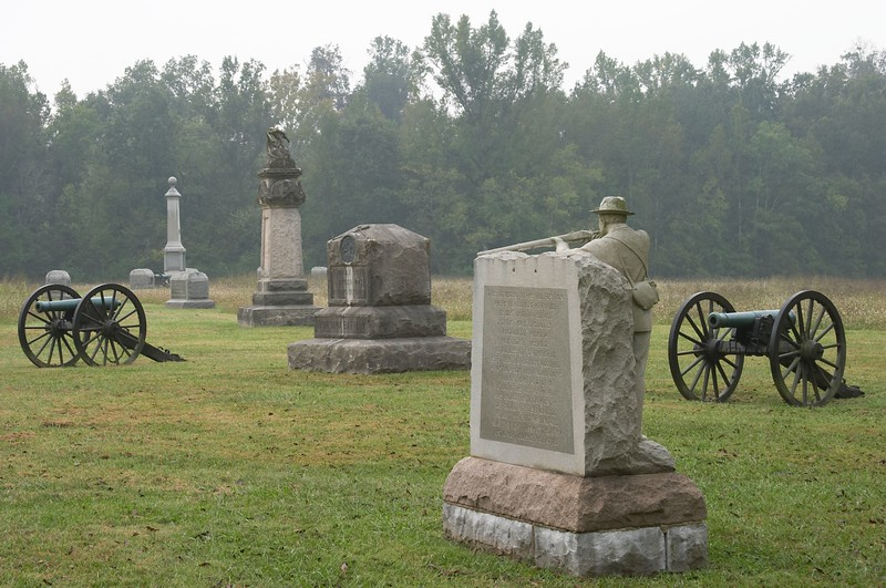 Federal battle line at Viniard's Field - Chickamauga and Chattanooga National Military Park