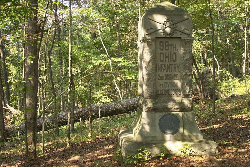 98th Ohio monument on Snodgrass Hill, Chickamauga and Chattanooga National Military Park, Chickamuaga, GA.